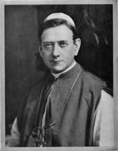 Bishop McDonnell, SJC's first president.