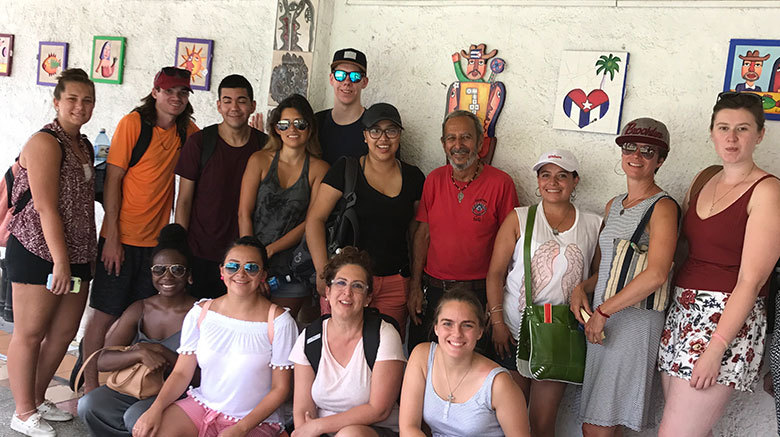 SJC students and faculty in Cuba.