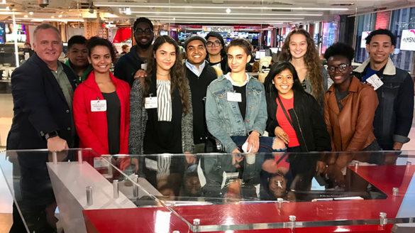 SJC Squared students at NBC Studios in NY