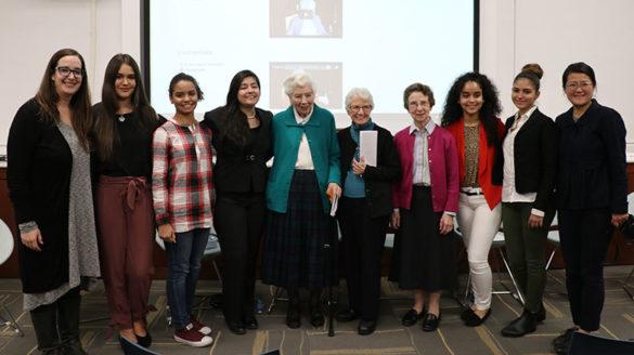 Students, sisters and McEntegart Library staff of SJC Brooklyn