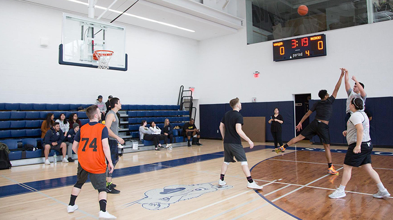 Basketball game for relief efforts.