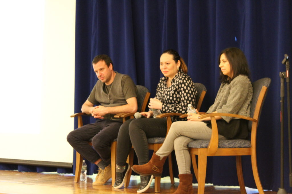 Panelists from group one.