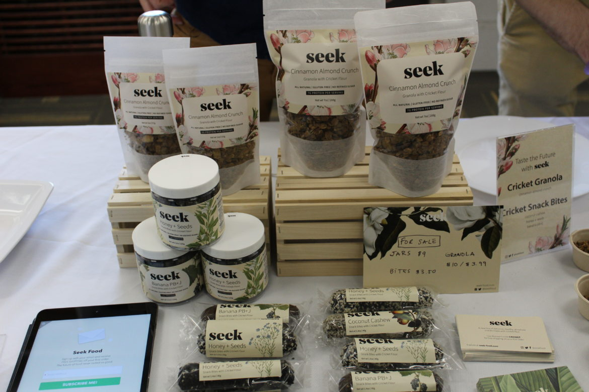 Seek food products, made with cricket flour.