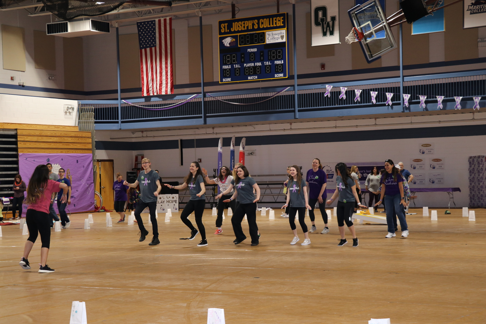 SJC's Dance Club at Relay for Life.