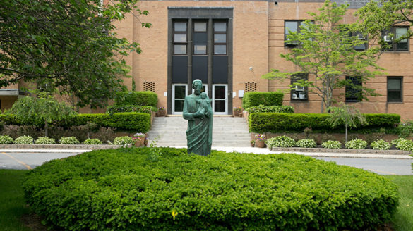 St. Joseph statue at SJC Long Island.
