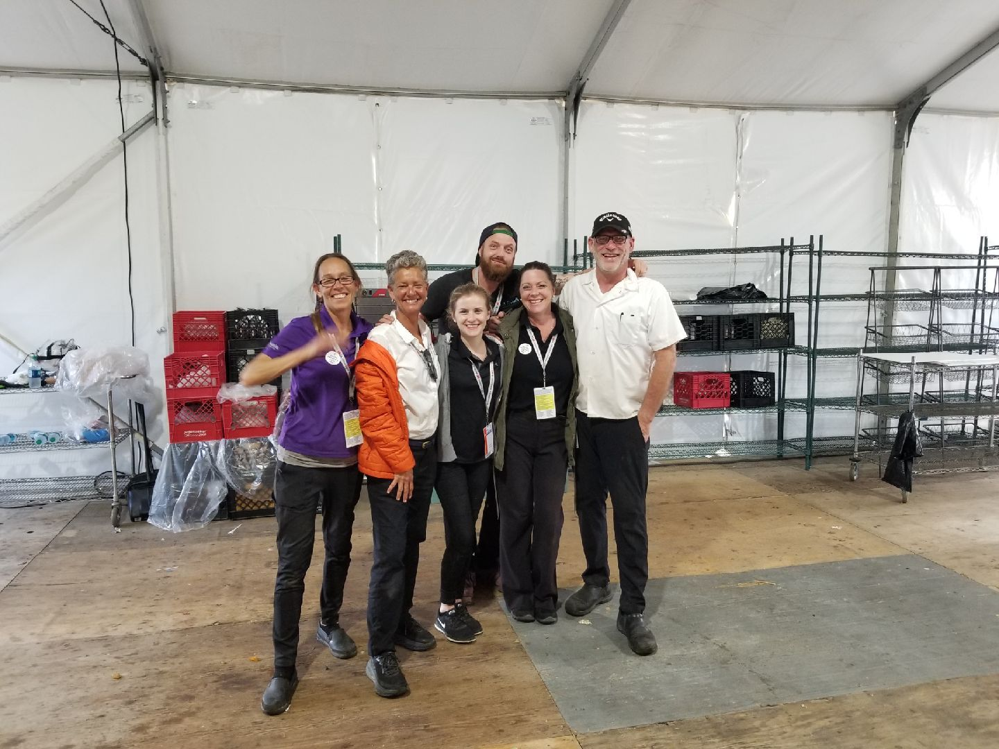 Gabriella Marino with other buffet crew members at the 2018 U.S. Open.