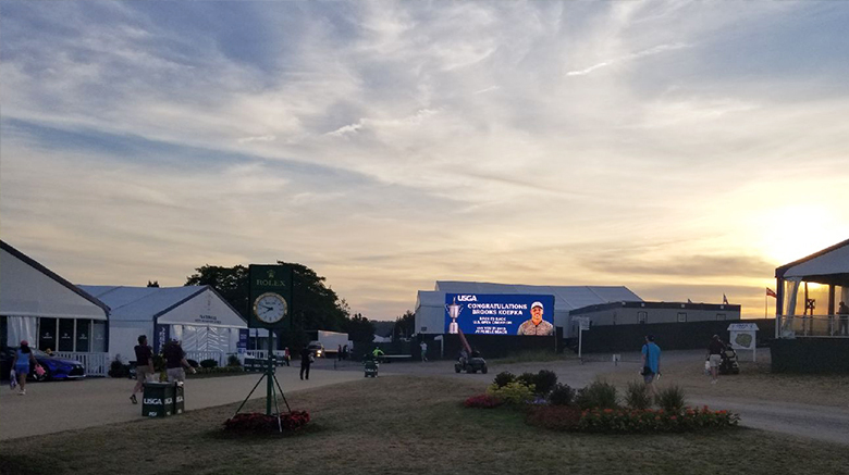 Photo from the final day of the 2018 U.S. Open.