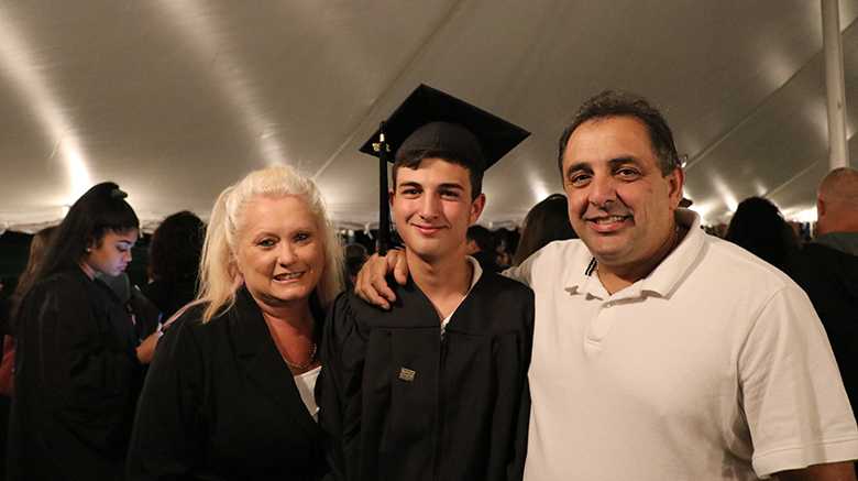 Mr. and Mrs. Spano with son Vinny Spano