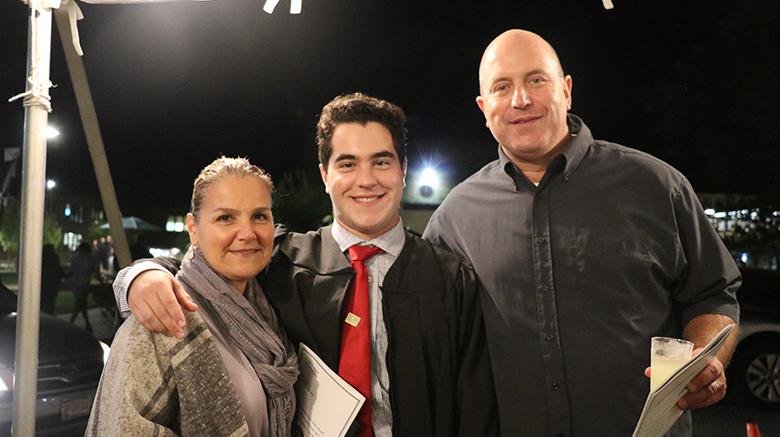 Patrick Diecidue with his parents