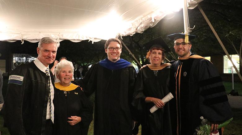SJC President Dr. Boomgaarden with SJC Long Island faculty.