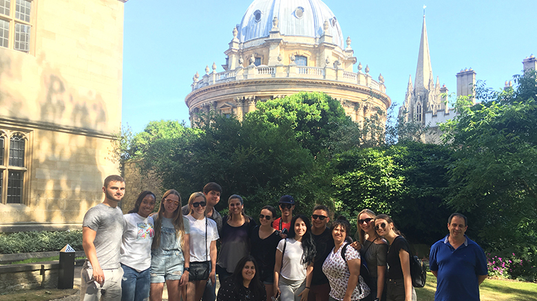 SJC students in Oxford, summer 2018.