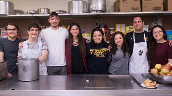 SJC Long Island at soup kitchen.