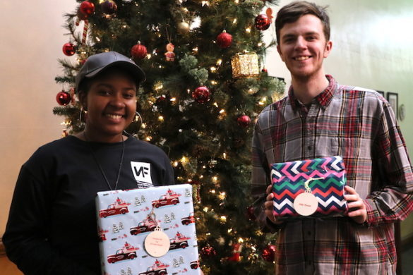 students with presents