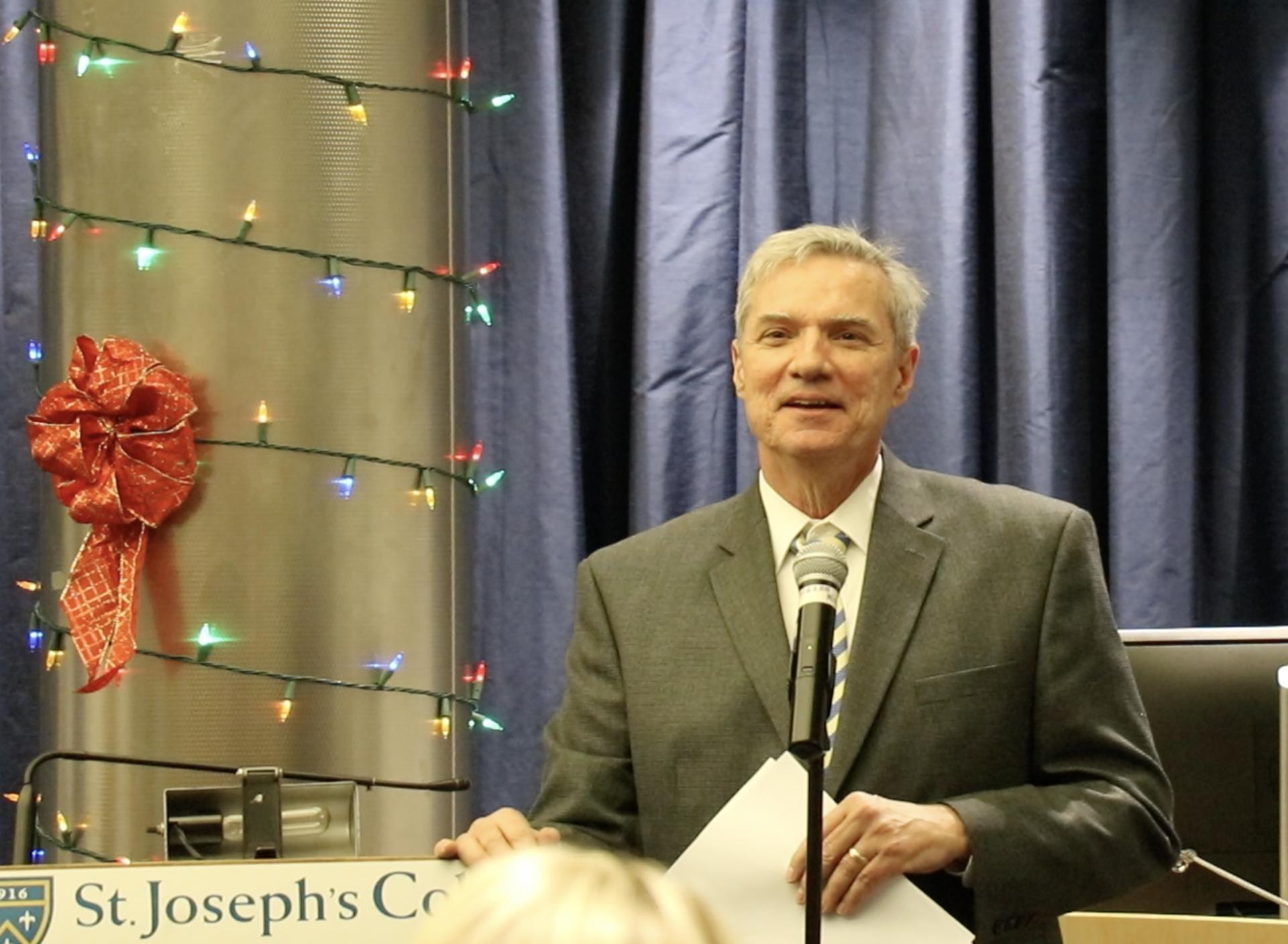 SJC President Dr. Boomgaarden.