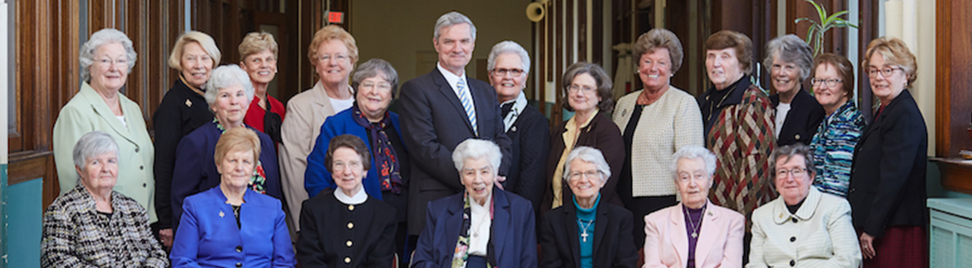 President Boomgaarden with the Sisters of St. Joseph.