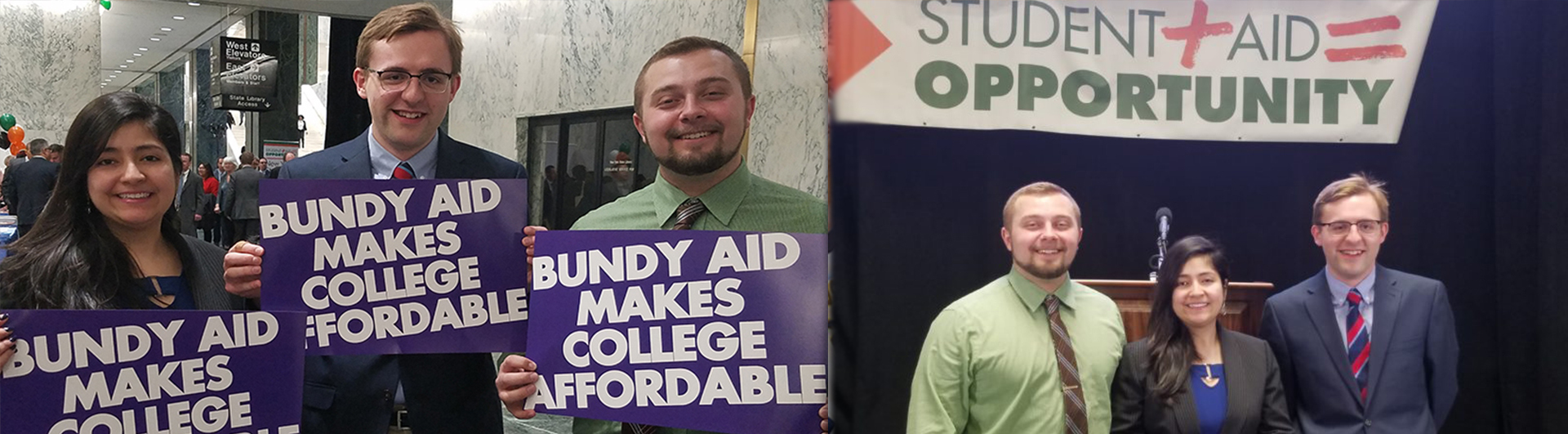 St. Joseph's students went to Albany to support Bundy aid in February 2018.