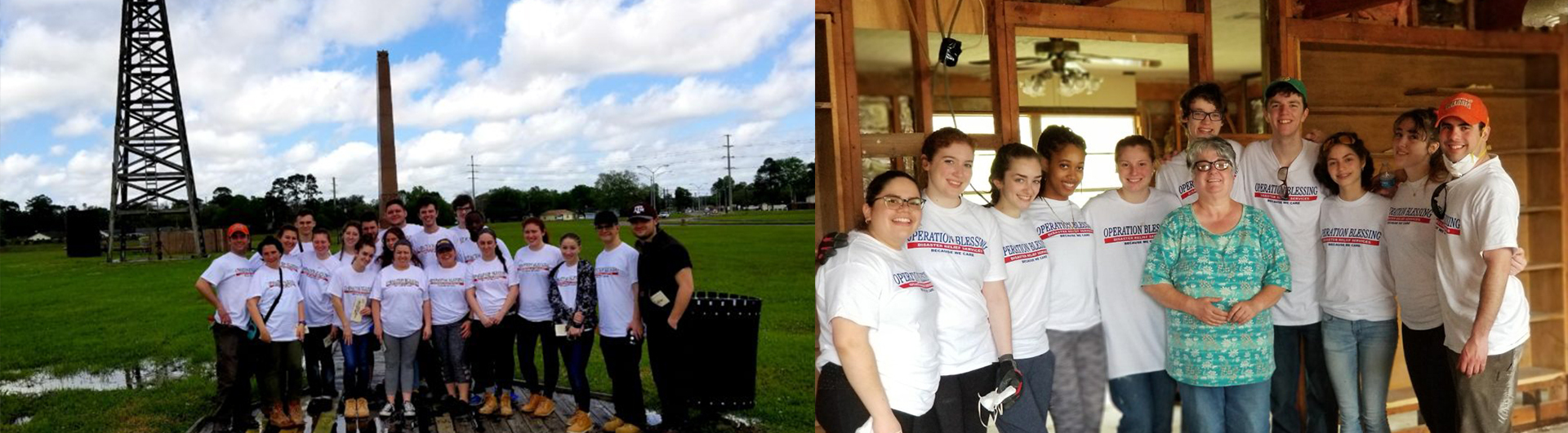 St. Joseph's students went to Houston to help with Hurricane Harvey cleanup during spring break 2018.