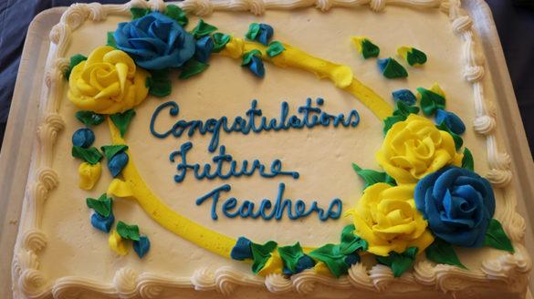 Cake for child study seniors.
