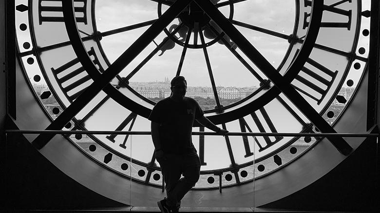 Zachary Morales '20 in France.