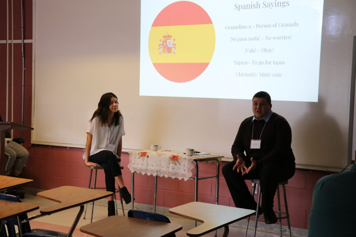 Students speaking about their global studies in Barcelona.