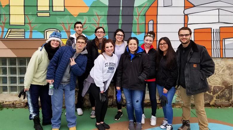 SJC Long Island students and staff participate in Alternative Winter Break.