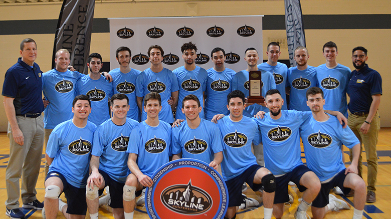 SJC Long Island's men's volleyball team wins the Skyline Championship for the second year in a row.