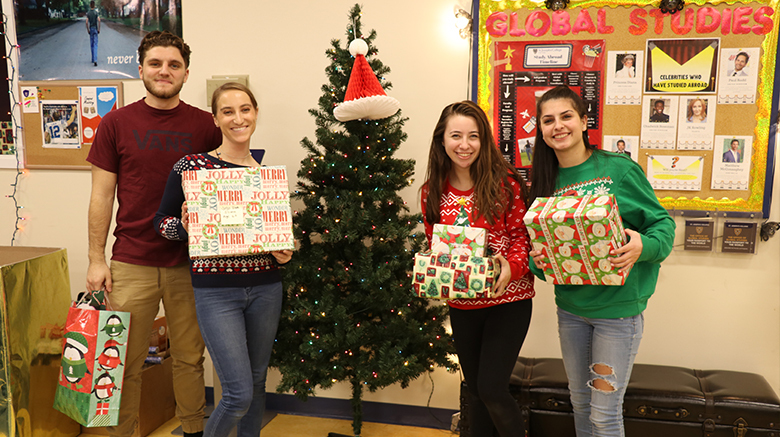 The SJC community comes together to give to those in need during the holidays.