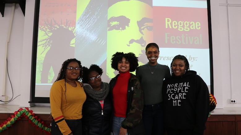 Students at SJC Brooklyn gathered to learn about reggae music in honor of Black History Month.