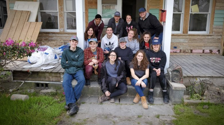 For Alternative Spring Break, students from both campuses visit Kure Beach, North Carolina, to help prepare homes for rebuilding after Hurricane Florence.