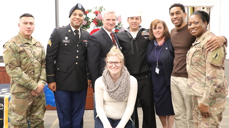 SJC Brooklyn celebrates veterans and active military members during Veterans Day event.