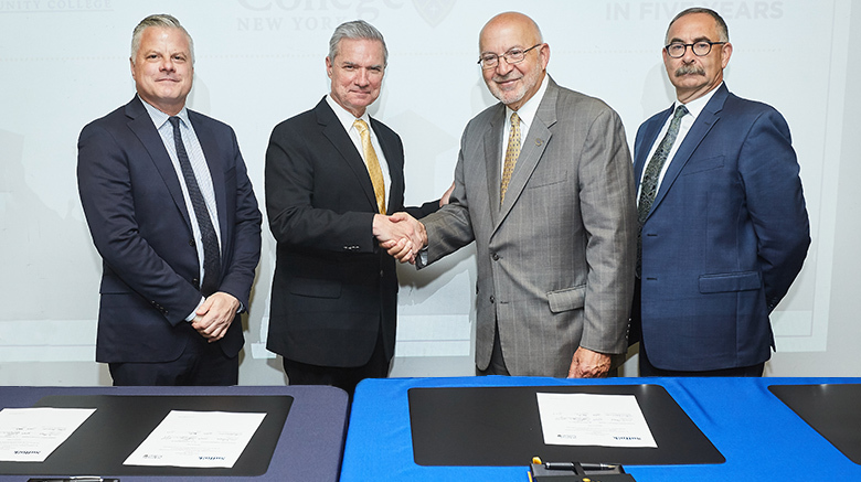 SJCNY and SCCC celebrate new articulation agreements.