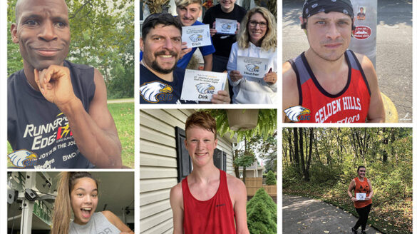A collage of some of the participants of the Spirit Fest virtual run.