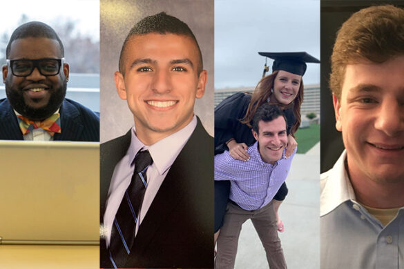 Four St. Joseph's College alumni who received a dual degree.