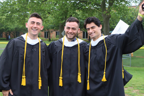Three brothers from SJC Long Island graduated together during the 2021 commencement.
